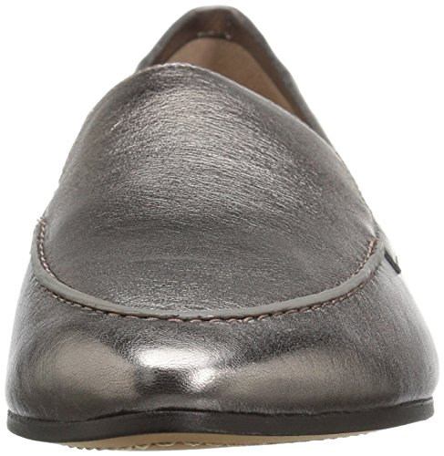 206 Collective Women's Leona Slip-on Loafer Pewter Metallic Leather