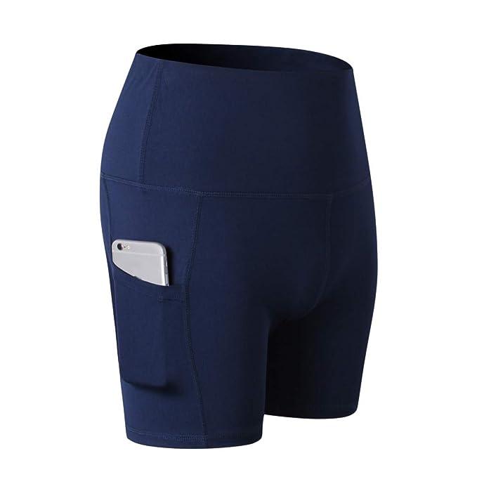Pantalon Corto Mujer Lanskirt Leggings Mujeres Yoga de Color ...