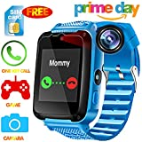 Kids Phone Smart Watch - [Speedtalk SIM Included] Kids Smartwatch for 3-14 Year Boys Girls Touch Screen Camera Game Sport Outdoor Digital Wrist Cellphone Watch Bracelet for Summer Holiday Prime Gift
