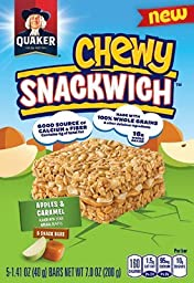 QUAKER CHEWY SNACKWICH APPLES & CARAMEL BARS ( 1 PACK )