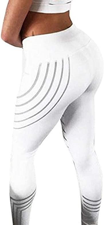 Levifun Pantalones Yoga Mujeres polainas Deportivas Mujer,Raya recortado Mujer Deporte Pantalones Fitness Mujer Gym Pantalon Yoga EláSticos Bombachos ...