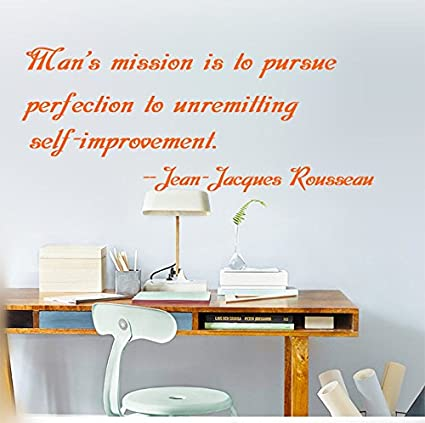 amazon com man s mission is to pursue perfection unremitting self