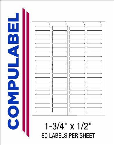 Compulabel Return Adress-Etiketten für Laser- und Tintenstrahldrucker, 1 3 4 x 1 5,1 cm, permanent selbstklebend, 80 pro Blatt, 250 Blatt pro Karton (330502)