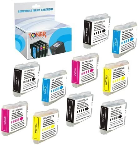 Toner Clinic Compatible Ink Cartridge Replacement for Brother LC-51 LC51 4 Black, 2 Cyan, 2 Magenta, 2 Yellow, 10-Pack for use in DCP 130c 330c 350c Fax 1360 1860c MFC 230c 240c 3360c 440cn 465cn