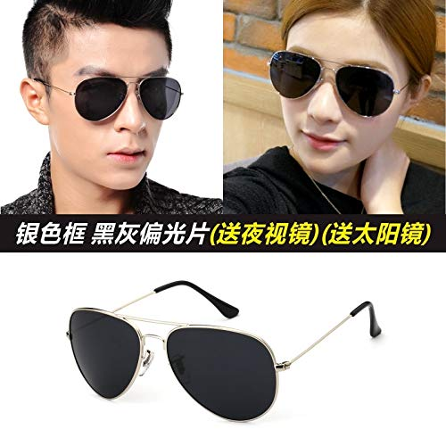 Pol Gray Sunglasses - Men's Sunglasses pol Influx People Men Women Driving Frog Mirror Sunglasses Men Man Driver Drove Dress up Sunglasses Star (Silver-Rimmed Dark Gray pol (nvg Feed) (retransmi