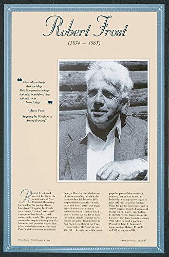 Robert Frost- Author of the 20th Century Poster
