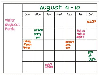 buy dry erase calendar whiteboard monthly planner wall decal