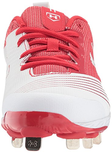 Under Armour Damen Glyde ST Softball Schuh Weiß Rot