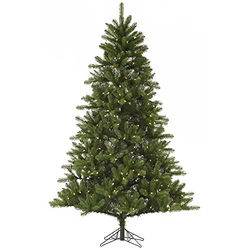 Vickerman Rockwell Spruce Artificial Christmas Tree with 350 Clear Lights, 7' x - Clear 350 Lights Tips