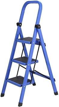 SED Escaleras de Mano Multiusos para el Hogar, Escalera Interior Silla Taburetes con Peldaño Taburete Plegable para Adultos/Personas Mayores, Escalera de 3 Peldaños con Agarre Manual, Capacidad de: Amazon.es: Bricolaje y herramientas