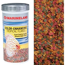 Marineland (Aquaria) Tropical Color Enhancing Flake Food 7.76oz, 1 Pack