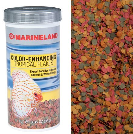 (Marineland (Aquaria) Tropical Color Enhancing Flake Food 7.76oz, 1 Pack)