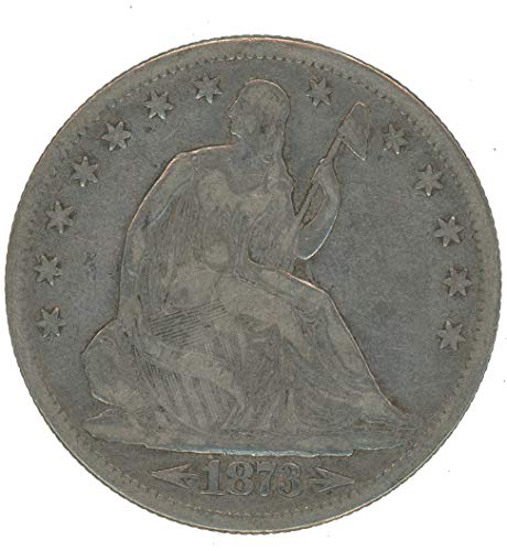 1873 P Seated Liberty Half Dollar w/Arrows 50c Fine