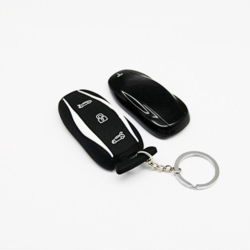 Black Silicone Key Case Keychain for Tesla Model S