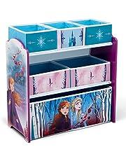 Delta Children Frozen II 6 Bin Design and Store Toy Organizer by