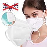 KN95 Mask Anti-Germ Influenza Protection Breathable Mouth and Nose Non-Respiratory Valve Mask with Elastic Ear Loop Box of 5