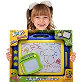 Magnetic Drawing Board Toy/Doodle Board for Kids, Best Children Writing Playing Sketch Pad, Mini Travel Size Doodle Board Included! Also Includes Stylus, Stamps and Knob Eraser.