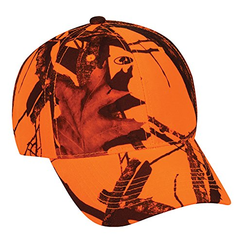 Mossy Oak Youth Camouflage Hunting Hat Blaze Orange Kids Cap