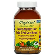 MegaFood - Baby & Me Herb Free, A Multi-Vitamin and Mineral Supplement for the Maintenance of Good Health, 120 Count