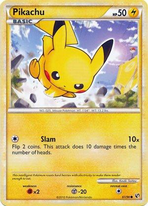 Pokemon Legend HS3 Undaunted Single Card Pikachu #61 Common