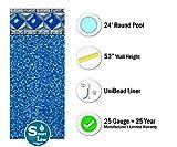 Smartline Crystal Tile 24-Foot Round Pool Liner