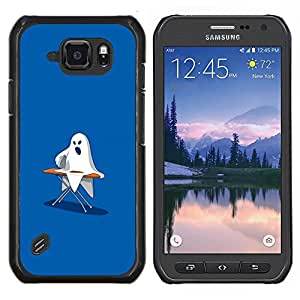 "Be-Star Único Patrón Plástico Duro Fundas Cover Cubre Hard Case Cover Para Samsung Galaxy S6 active / SM-G890 (NOT S6) ( Fantasma de planchado - Gracioso"" )"