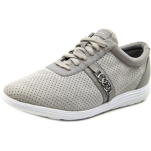 (Cole Haan Womens Bria Grand Sport Oxford II,Ironstone/Optic White Perf Suede/Le)