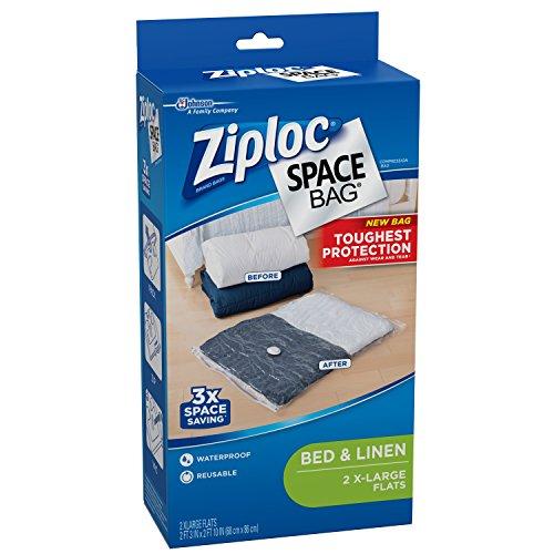 031810700118 - Ziploc Space Bag,  XL Flat Bag, 2 Count carousel main 3