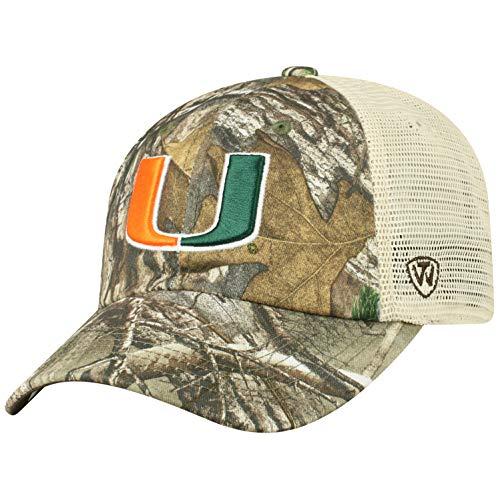Miami Hurricanes Camouflage Caps. NCAA Miami Hurricanes Men s Camo Stock  Adjustable Mesh Icon Hat ... ae7570095f95