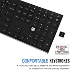 Arteck 2.4G Wireless Keyboard Stainless Steel Ultra Slim Full Size Keyboard with Numeric Keypad for Computer/Desktop/PC…