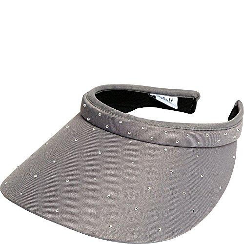 Womens Clip On Visor Glove It Golf & Tennis Head Visors for Women UV 50 Protection Ladies Sun Visor Hat Large Wide Brim Pink Bling