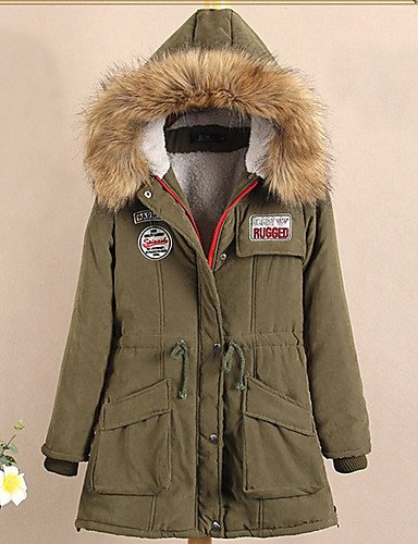 Color Army Coat Jacket Green Candy Long Cotton S Slim Fashion Hooded ZHUDJ 10 Padded Girls Women'S Winter Colors Winter Jackets New qpq0wH