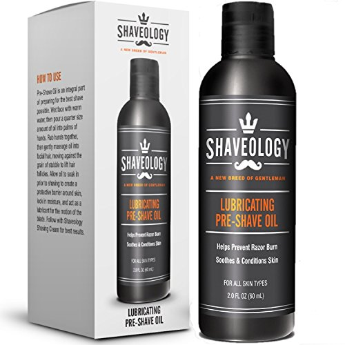 (SHAVEOLOGY Natural Pre Shave Oil for Men - 2 Full OZ - Preshave Oil Protects and Hydrates Your Skin - Prevents Razor Burn, Rashes, Bumps and Ingrown Hairs - No Preservatives - for All Skin Types)