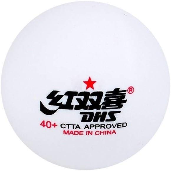 CHUJIAN Tenis de Mesa Sai Fu, una Estrella, Dos Estrellas, Bola de Entrenamiento 40+, Tenis de Mesa Blanco, Bola de Costura