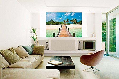 Startonight Mural Wall Art Photo Decor Bridge to the Beach Medium 4-feet 2-inch By 6-feet Wall Mural for Living Room or (4' Mural)