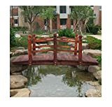 Lapha' Countryside Wooden Bridge Brook Pond Pool Vowel Backyard Playground Garden Bridge Creek Backyard Arch Archway Walk Way Strong Puente 5ft