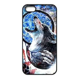 Custom Fantasy Wild Wolf Dream Catcher Protective Skin Case for iPhone 5and iphone 5s