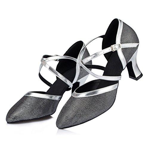 Semelle 1 Salle Pour De Daim md Bout Dansent Un Salon Talon Avec Misu 3 La Ferm En Danse Femmes Chaussures Bal w4BxR