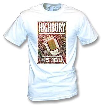 84718a3b Highbury N5 1BU (Arsenal) Football T-Shirt: Amazon.co.uk: Sports ...