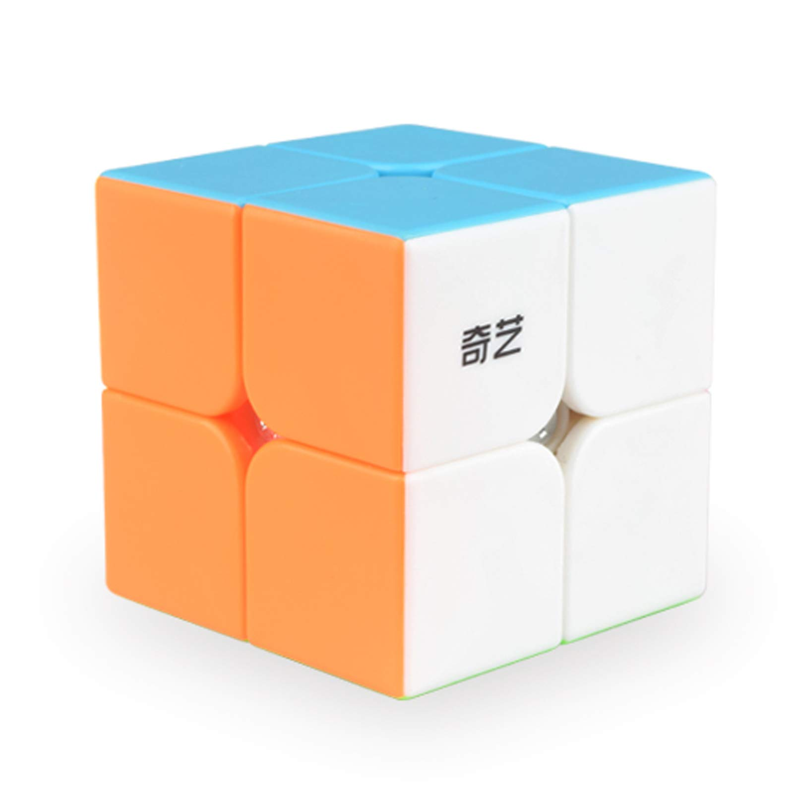Little Golden Elephant Qiyi Qidi Speed Cube 2x2- Stickerless Magic Cube 2x2x2 Puzzles Toys (50mm), The Most Educational Toy to Effectively Improve Your Child's Concentration, responsiveness and Memory