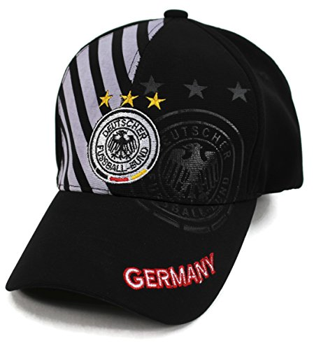 High End Hats World Soccer/Football Team Hat Collection Baseball Cap Flexfit Hat, Germany with DFB Logo, White
