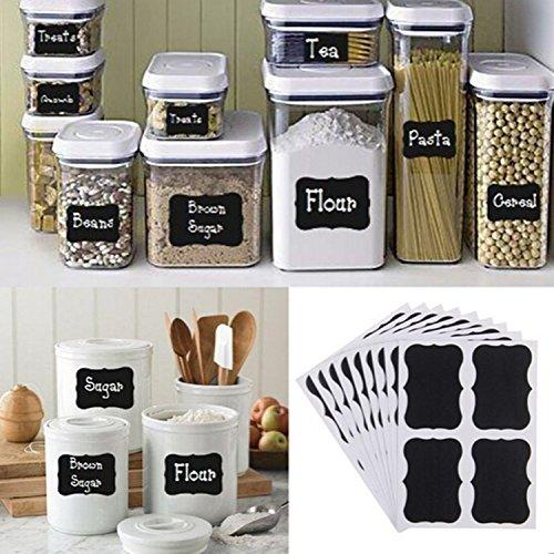 Fancy Black Board Kitchen Jam Jar Label Labels Stickers.