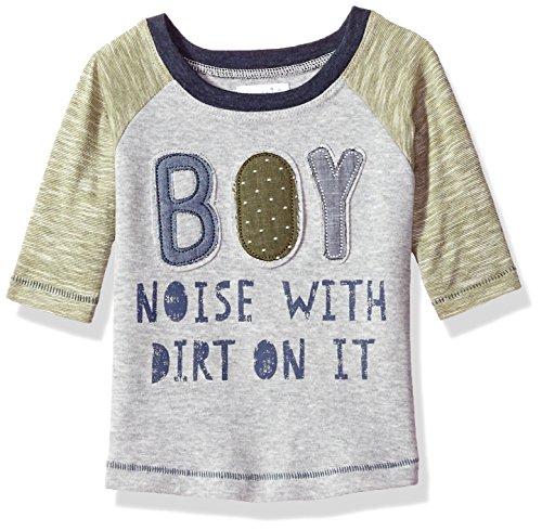(Mud Pie Baby Boy Definition Long Sleeve Raglan T-Shirt, Blue, MD/ 2T-3T )