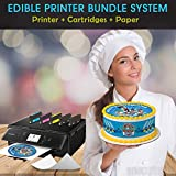 INKUTEN Edible Printer Bundle - Canon Cake Printer With 1 set of Edible Cartridges, 24 Frosting sheets Pack