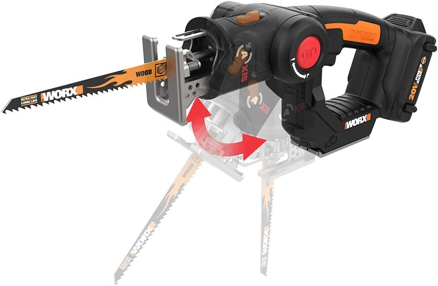 WORX 2-in-1 Reciprocating Saw and Jigsaw with Orbital Mode
