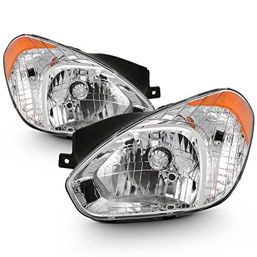 (ACANII - For 2007 2008 2009 2010 2011 Accent GS SE GLS SR Headlights Headlamps Driver + Passenger Side)