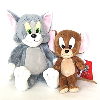Genuine Licensed Warner Bros. Tom and Jerry Plush Doll (Set of 2pcs): Toys & Games