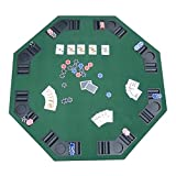 Deluxe Foldable Poker/Blackjack Card Game Table Top w/Carrying Bag