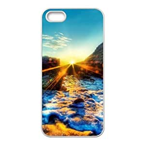 Okaycosama Funny IPhone 5,5S Cases Sunset 57 for Boys, Iphone 5s Case for Men, {White}