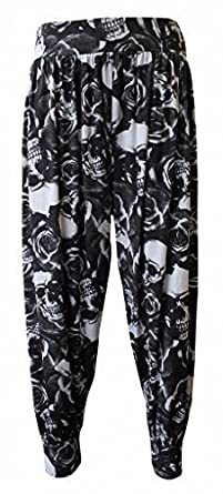 6c12cd1f9be0b NEW GIRL Women Ladies Floral Printed Full Length Baggy Boho Hippy Loose Fit  Harem Ali Baba Aladdin Casual Stretchy Trousers Pants Leggings Bottoms Plus  ...
